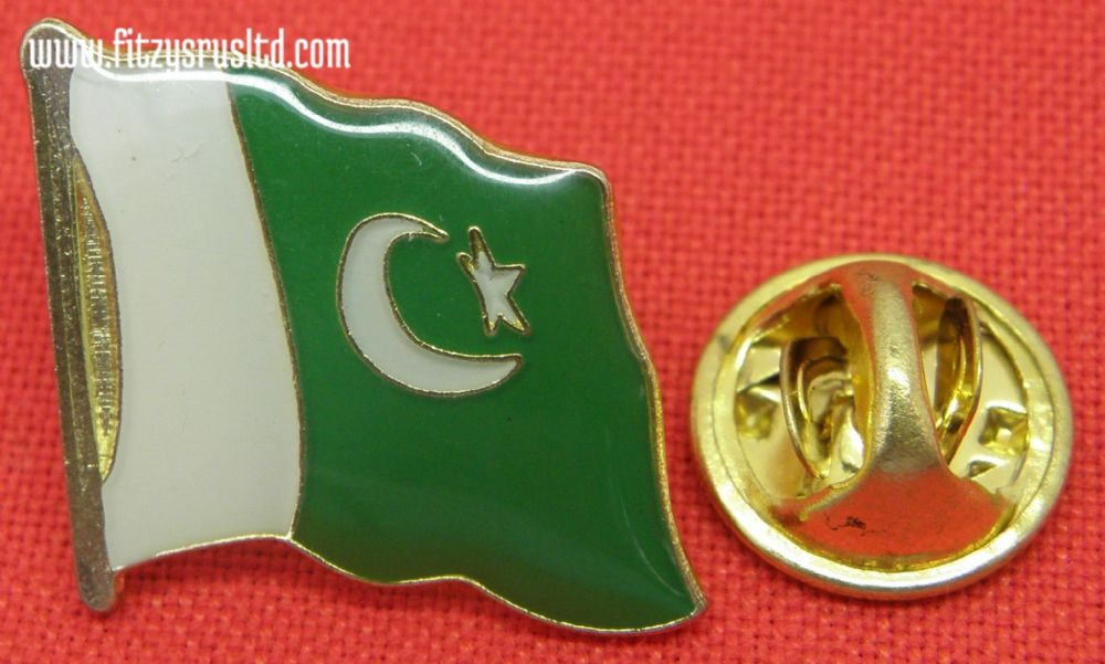 10 pcs x Pakistan Country Flag Lapel /Hat / Cap / Tie Metal Pin Badge Brooch New